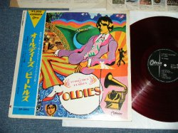 "Photo1:  THE BEATLES  - A COLLECTION FO BEATLES OLDIES  ( ¥2000 Mark) (Ex+/Ex++ )   / JAPAN ""RED WAX Vinyl"" Used LP with OBI"
