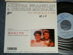 """Photo1: ARETHA FRANKLIN & GEORGE MICHAEL アレサ・フランクリン & ジョージ・マイケル - A) 愛のおとずれI KNEW YOU WERE WAITING (FOR ME) B) 愛のおとずれI KNEW YOU WERE WAITING (FOR ME) (INST.)  (Ex++/Ex++ WOFC) / 1986 JAPAN ORIGINAL """"PROMO"""" Used 7""""45's Single  With PICTURE SLEEVE"""