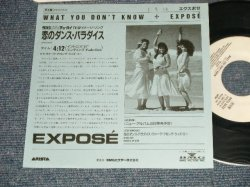 "Photo1: EXPOSE エクスポゼ - A)恋のダンス・パラダイス WHAT YOU DON'T KNOW  B) WALK ALONG WITH ME (Ex+++/MINT- SWOFC) 1989 JAPAN ORIGINAL ""PROMO ONLY"" Used 7""45's Single  With PICTURE COVER"