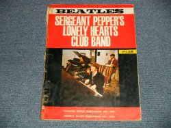 Photo1: The BEATLES-ビートルズ - SERGENT PEPPER'S LONELY HEARTS CLUB BAND (SHEET MUSIC BOOK) (VG+++ WO)/ 1967?? Japan Used BOOK