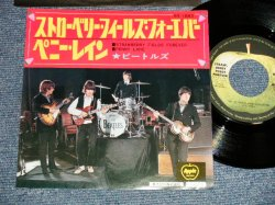 "Photo1: The The BEATLES ビートルズ - A) STRAWBERRY FIELDS FOREVER  B) PENNY RAIN  (MINT-/MINT-) /1974 Version? ¥500 EMI Mark JAPAN Used 7"" Single"