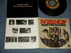 "Photo1: GFR GRAND FUNK RAILROAD グランド・ファンク・レイルロード - A) WE'RE AN AMERICAN BAND アメリカン・バンド  B) CREEPIN'  (MINT-/MINT-) / 1973 JAPAN ORIGINAL Used 7"" 45 rpm Single"