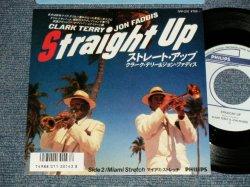 "Photo1: CLARK TERRY & JON FADDIS クラーク・テリー&ジョン・ファディス - A)STRAIGHT UP ストレート・アップ  B) MIAMI STRETCH マイアミ・ストレッチ((MINT-/MINT STOBC) / 1986 JAPAN ORIGINAL Used 7"" Single"