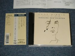 Photo1: JANE BIRKIN ジェーン・バーキン - AMOURS DES FEINTES  いつわりの愛 (MINT-/MINT) / 1990 JAPAN ORIGINAL Used CD with OBI