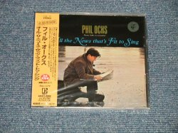 """Photo1: PHIL OCHS フィル。オクス - ALL THE NEWS THAT'S FIT TO SING (SEALED) / 1999 JAPAN  """"BRAND NEW SEALED"""" CD With OBI"""