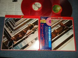 """Photo1: THE BEATLES ビートルズ - 1962-1966 (Ex+++/MINT-) / 1978 JAPAN Limited """"RED WAX Vinyl"""" Used 2-LP with OBI"""