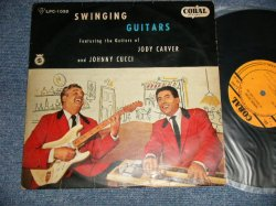 "Photo1: JODY CARBER and JOHNNY CUCCI ジャディ・カーヴァー/ジョニイ・カッシイ - SWINGING GUITARS スインギング・ギター (Ex/Ex- NOISY) / 1958 JAPAN ORIGINAL Used 10"" LP"