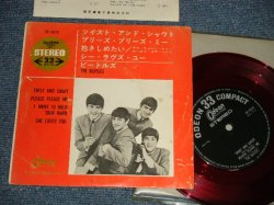 "Photo1: The BEATLES ビートルズ - TWIST & SHOUT (Ex/Ex++) / 1965 ¥500 Mark JAPAN ORIGINAL1st Press ""RED WAX VINYL"" Used 4 Tracks 7"" EP"