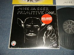 """Photo1: MICK JAGGER ミック・ジャガー (The ROLLING STONES ローリング・ストーンズ) - PRIMITIVE COOL プリミティヴ・クール(MINT/MINT) /  1987 JAPAN ORIGINAL """"PROMO"""" Used LP with SEAL OBI"""