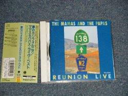 Photo1: THE MAMAS & THA PAPAS ママス&パパス - REUNION LIVE 夢のカリフォルニア ライヴ・ベスト (MINT/MINT)   / 1992 JAPAN ORIGINAL Used CD With OBI