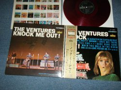 """Photo1: THE VENTURES ベンチャーズ - KNOCK ME OUT (Ex+++/MINT-) / 1965 JAPAN ORIGINAL """"HARD COVER"""" """"¥1800 Mark"""" """"RED WAX"""" Used LP with OBI"""